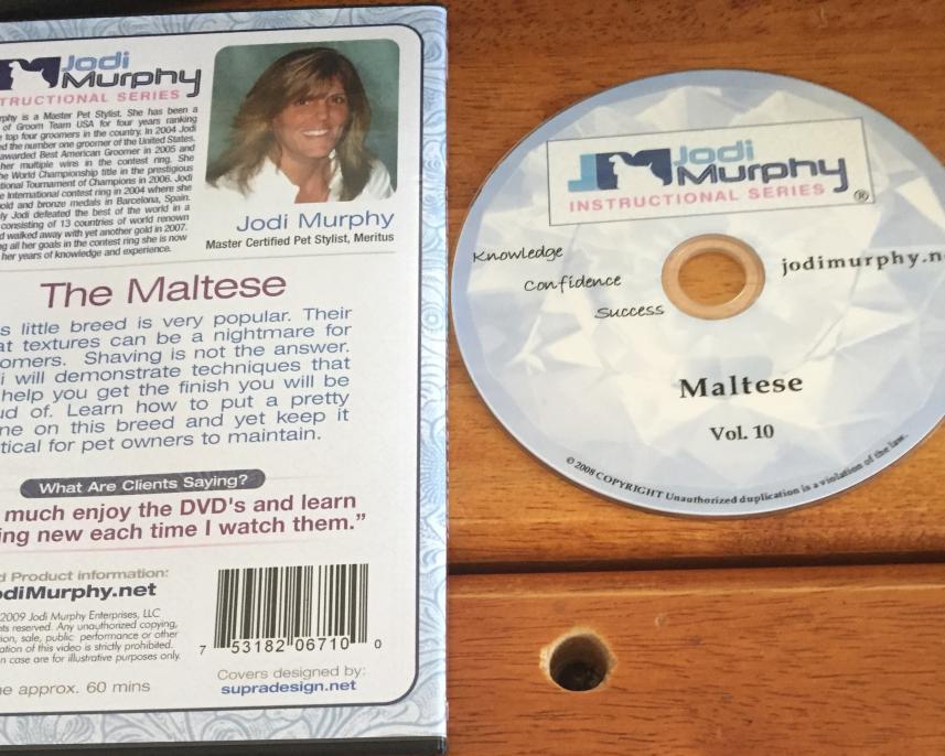 Brand New Jodi Murphy Instructional Video for Maltese Grooming Volume 10-jm2.jpg